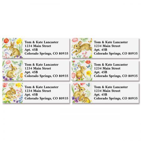 Bunny & Blossoms Classic Return Address Labels (6 Designs)