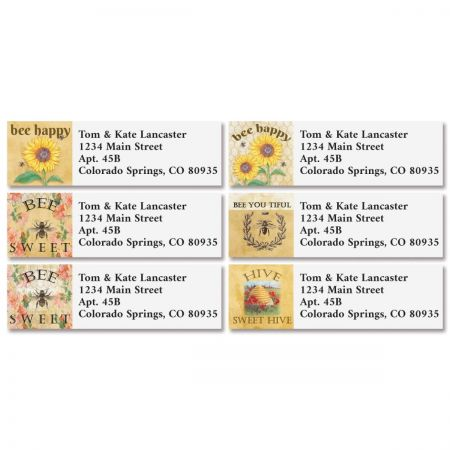 French Bee Classic Return Address Labels (4 Designs)