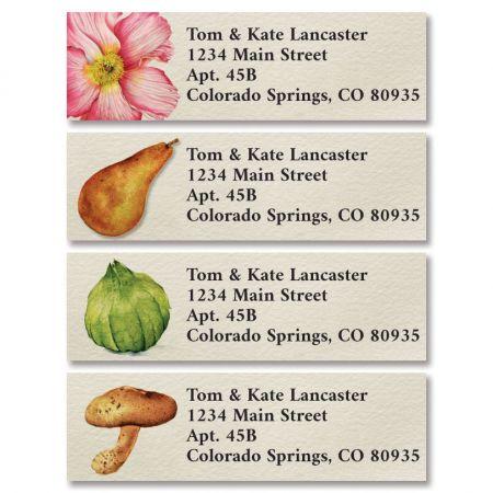 Garden Medley Classic Return Address Labels (4 Designs)