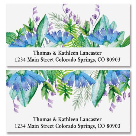 Sweet Flowers Deluxe Return Address Labels (2 Designs)