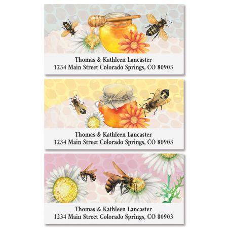 Honey Bees Deluxe Return Address Labels (3 Designs)