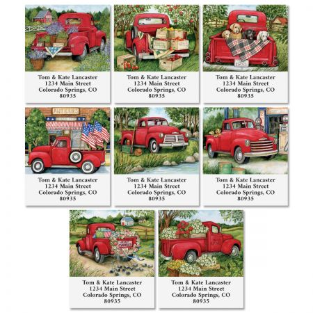 Trucking Along Select Return Address Labels (8 Designs)