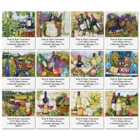 Wine Country Select Return Address Labels (12 Designs)