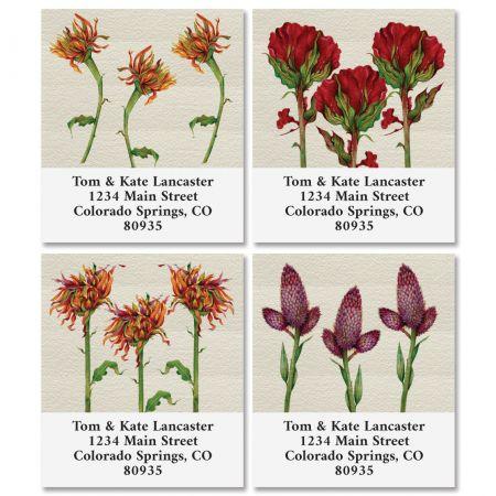 Florals Select Return Address Labels (4 Designs)