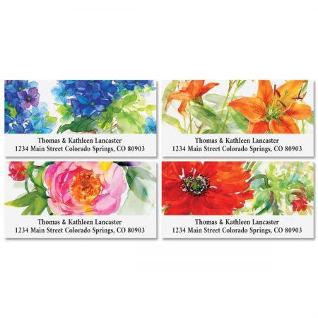 Big Blooms Deluxe Return Address Labels (4 Designs)