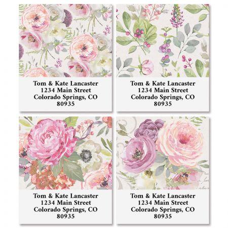 Pink Peony Select Return Address Labels (4 Designs)