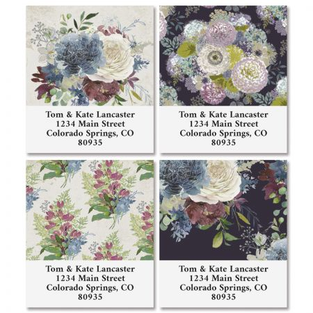 Fall Florals Select Return Address Labels (4 Designs)