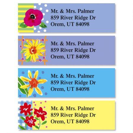 Painted Petals Classic Return Address Labels  (4 Designs)