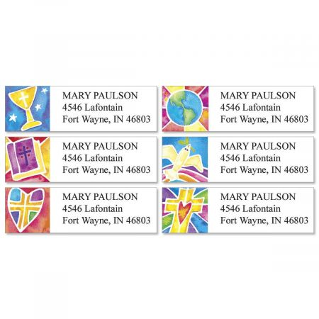 Christian Spirit Classic Return Address Labels  (6 Designs)