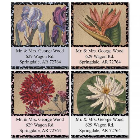 Imperial Blooms  Select Address Labels  (4 Designs)