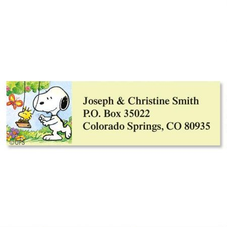 Snoopy Year Round Classic Return Address Labels  Colorful Images