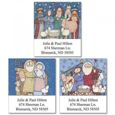 Sue Dreamer's Nativity Select Address Labels  (3 Designs)