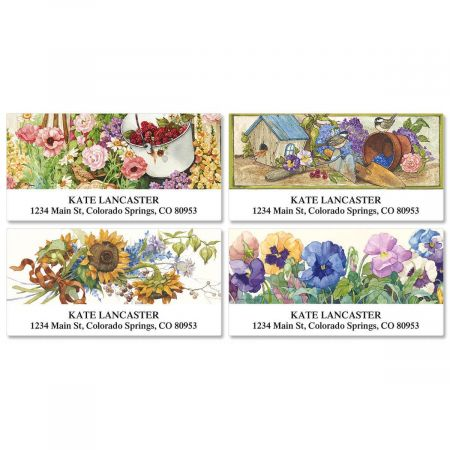 Sandi's In The Garden Deluxe Return Address Labels  (4 Designs)