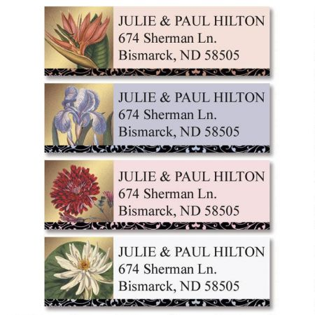Imperial Blooms  Classic Return Address Labels  (4 Designs)