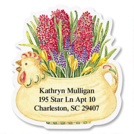 Vicky's Plant Parade Diecut Return Address Labels  (8 Designs)