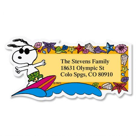Snoopy™ Seasons of Fun  Diecut Return Address Labels  (12 Designs)
