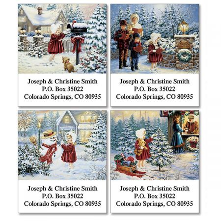 Noelle's Christmas Select Return Address Labels  (4 Designs)