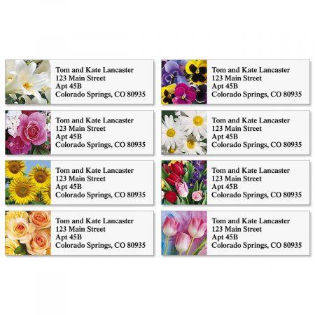 Beautiful Bouquets Classic Return Address Labels  (8 Designs)