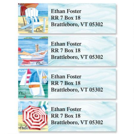 Water's Edge Classic Return Address Labels  (4 Designs)