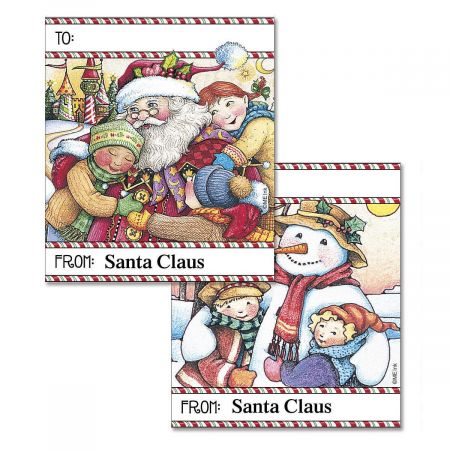 Holiday Hugs Personalized To/From Labels  (2 Designs)