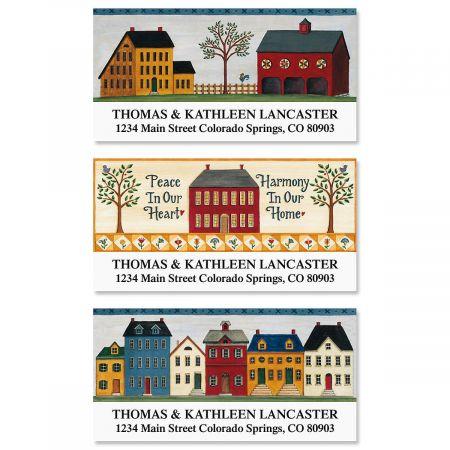 Saltbox Homes Deluxe Return Address Labels  (3 Designs)