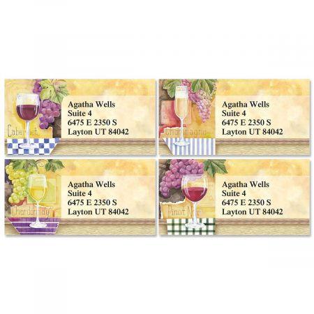 Vintage Selections Border Return Address Labels  (4 Designs)