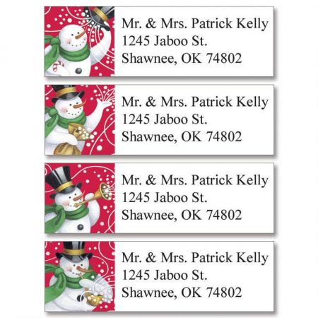 Snowmakers Classic Return Address Labels   (4 Designs)