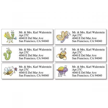 Fun Bugs  Classic Address Labels   (6 Designs)