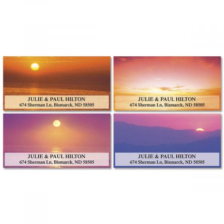 Sunset Splendor Deluxe Return Address Labels  (4 Designs)