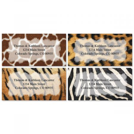 On the Wild Side Border Return Address Labels (4 Designs)