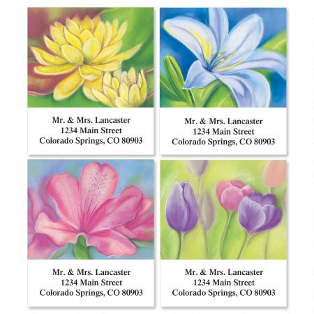 Floral Whispers Select Return Address Labels  (4 Designs)