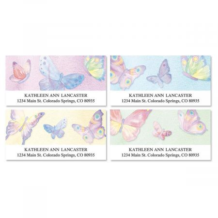 Watercolor Wings Deluxe Return Address Labels  (4 Designs)
