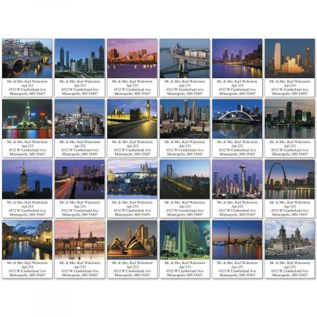 Cityscapes Select Return Address Labels  (24 Designs)
