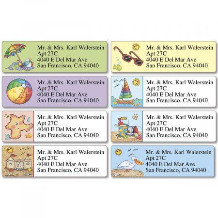 Beach Fun  Classic Return Address Labels   (8 Designs)