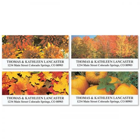 Autumn Beauty Deluxe Return Address Labels   (4 Designs)