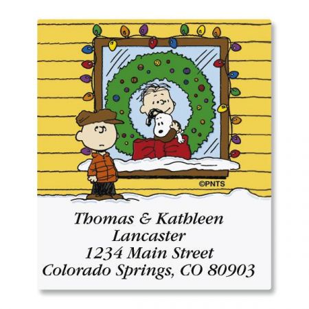 A CHARLIE BROWN® Christmas Select Return Address Labels  (6 Designs)