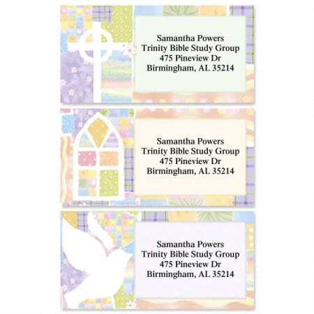 Faith Reflections Border Return Address Labels  (3 Designs)