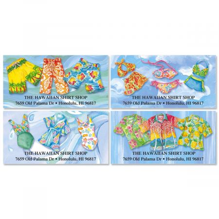 Tropical Style Deluxe Address Labels  (4 Designs)