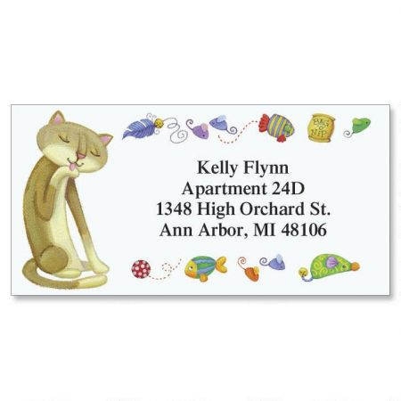 The Cat's Meow Border Return Address Labels  (6 Designs)