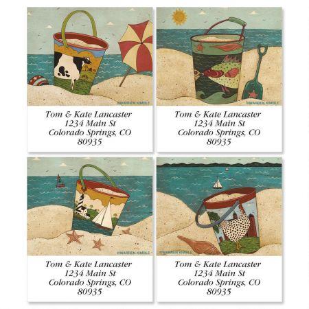 Warren Kimble's Sand Pails Select Return Address Labels  (4 Designs)