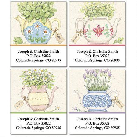 Herbal Tea Select Return Address Labels  (4 Designs)