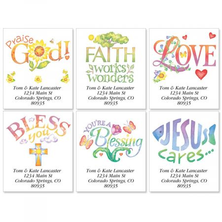Faithful Expressions Select Return Address Labels  (6 Designs)