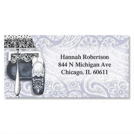 Accessorize! Border Return Address Labels  (6 Designs)
