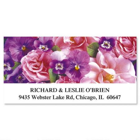 Beautiful Blossoms Deluxe Return Address Labels  (12 Designs)