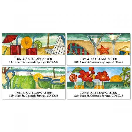 Refreshing Escape  Deluxe Return Address Labels  (4 Designs)