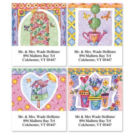 Garden's Gate Select Return Address Labels  (4 Designs)