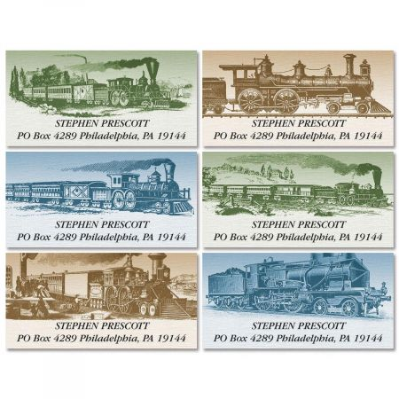 Riding The Rail  Deluxe Address Labels  (6 Designs)