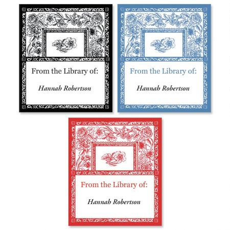 Toile  Bookplates   (3 Designs)