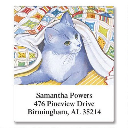 Living with Cats Select Return Address Labels  (12 Designs)