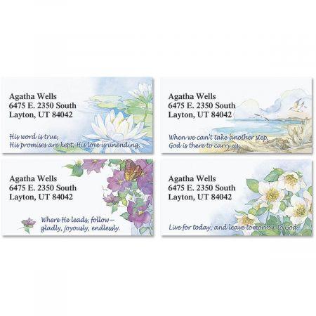 Daily Devotional Border Return Address Labels  (4 Designs)